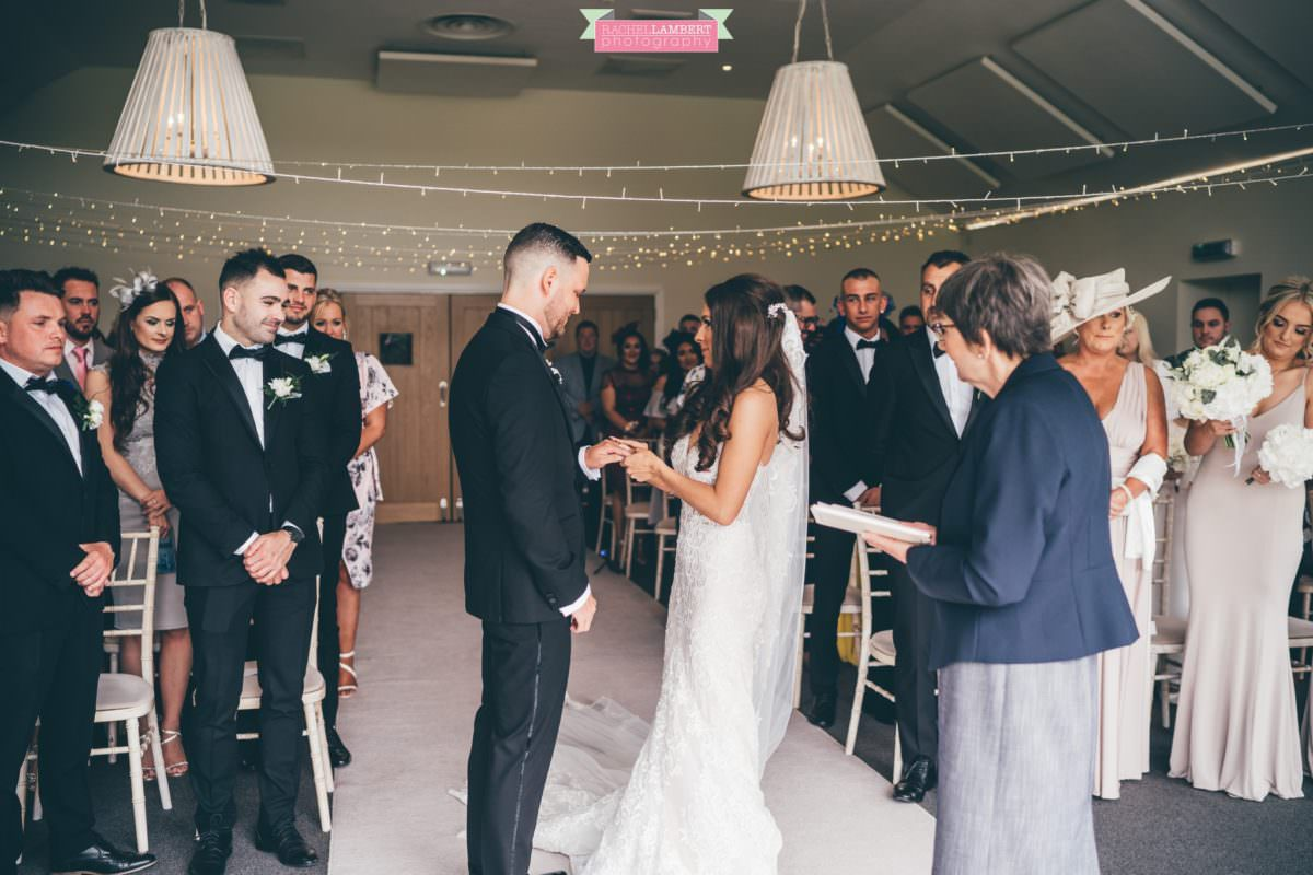 Cardiff Wedding Photographer Llanerch Vineyard rachel lambert photography bride and groom ceremony