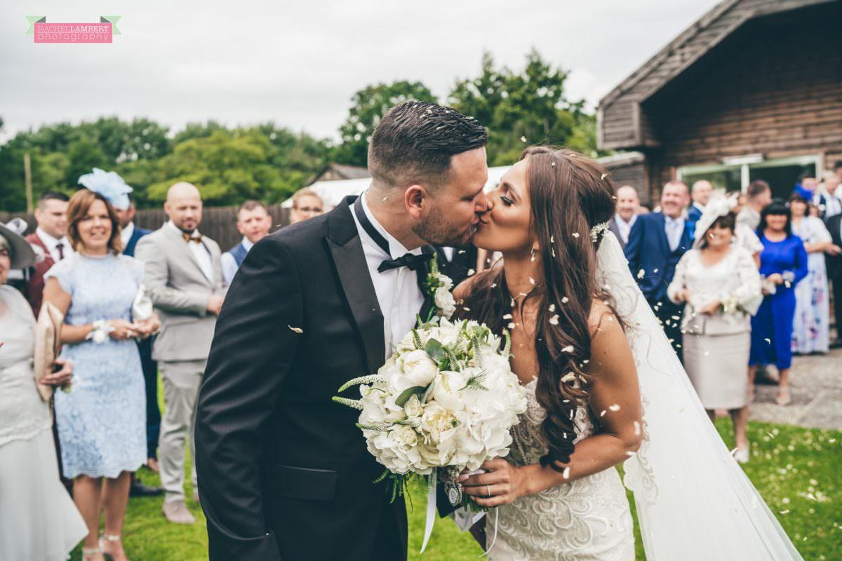 Cardiff Wedding Photographer Llanerch Vineyard rachel lambert photography bride and groom confetti