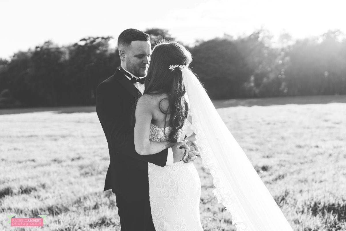 Cardiff Wedding Photographer Llanerch Vineyard rachel lambert photography bride and groom black and white