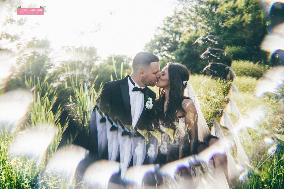Cardiff Wedding Photographer Llanerch Vineyard rachel lambert photography couple portraits golden hour sunset fractal filter
