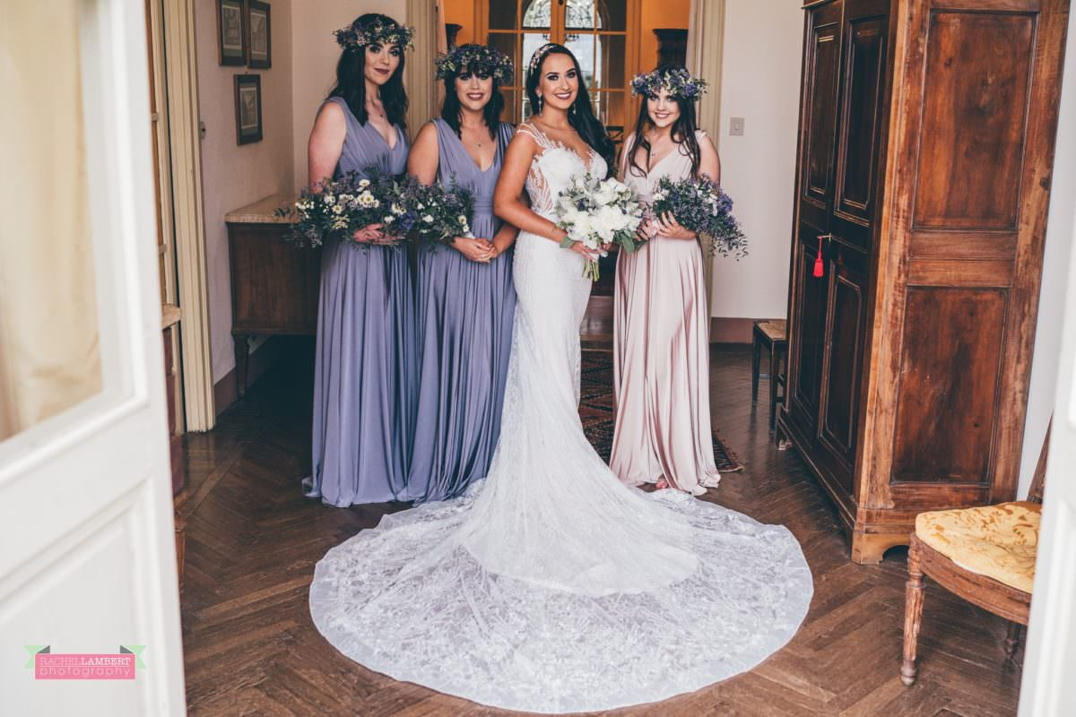 destination weddings photographers in italy pisa villa lungomonte bride and bridesmaids