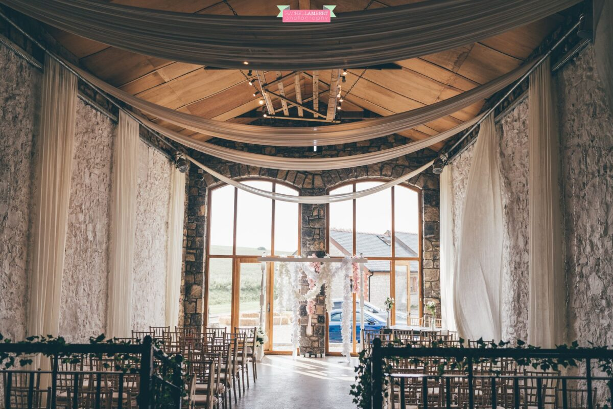 rosedew farm the great barn ceremony room