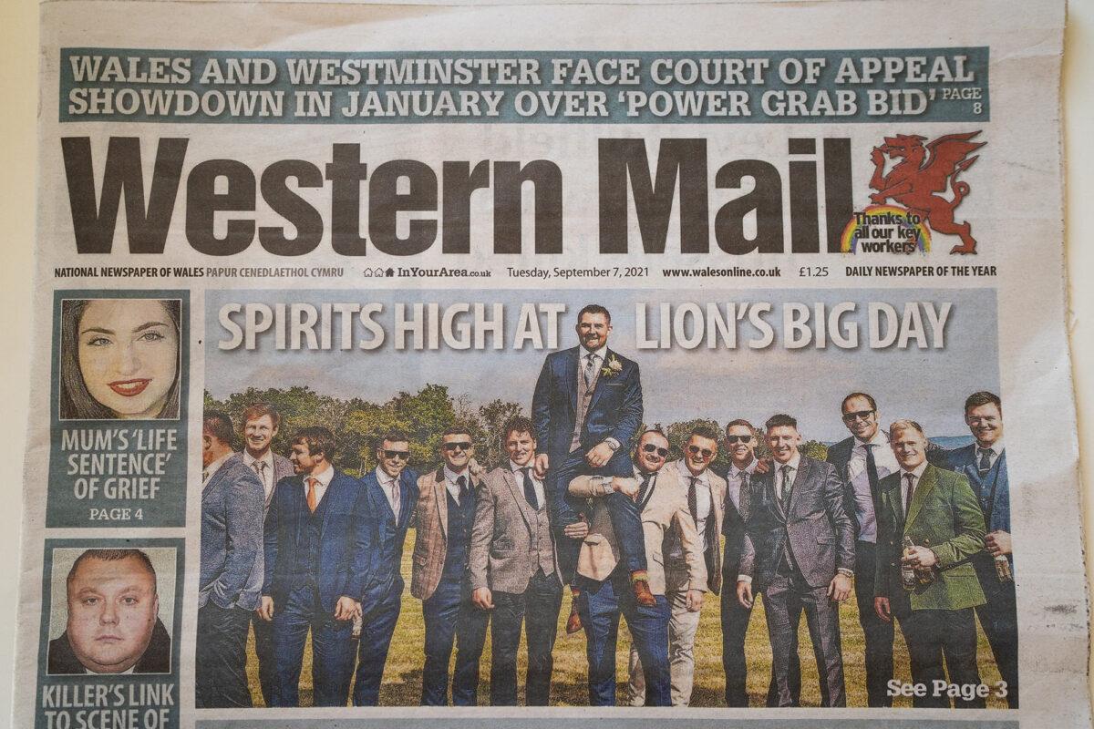 Wales British Lions Rugby Wedding
